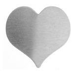 Metal Blank 24ga German Silver Heart 22x22mm No Hole 3pcs image