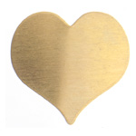 Metal Blank 24ga Brass Heart 22x22mm No Hole 3pcs image