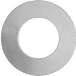 Metal Blank 24ga German Silver Washer-Round 25mm w/ 12mm Hole image
