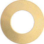 Metal Blank 24ga Brass Washer-Round 25mm with Hole image