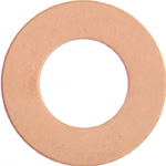 Metal Blank 24ga Copper Washer-Round 25mm with Hole3pcs image