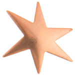 Metal Blank 24ga Copper Star 29x22mm No Hole image