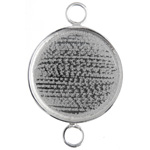 Bezel Handmade Link Round 29x1mm Silver Plated image