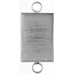 Bezel Handmade Link Rectangle 19x29x4mm Silver Plated image