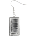 Bezel Handmade Earring Rectangle 21x11x2mm Silver Plated image