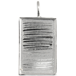 Bezel Handmade Pendant Rectangle 36x23x2mm Silver Plated image