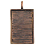 Bezel Handmade Pendant Rectangle 36x23x2mm Antique Copper image