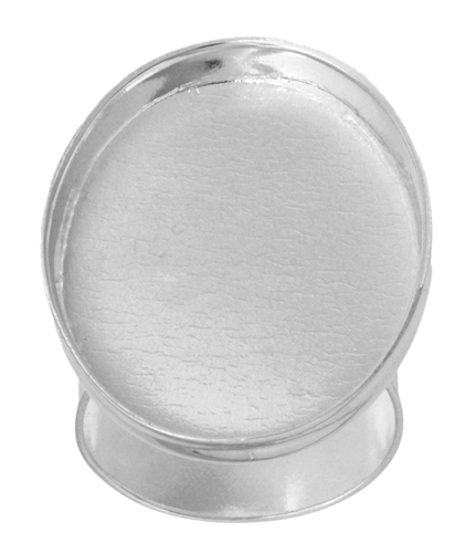 Bezel Stamped Ring Oval 28x21x3mm Silver image