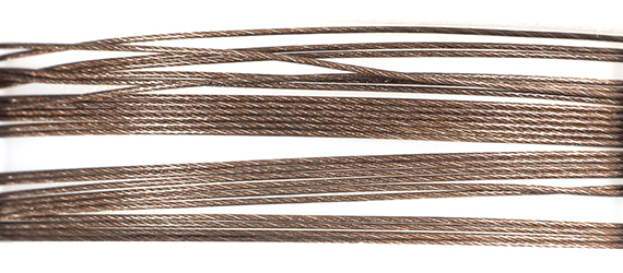 Beadalon Wire .015/49Strand 10ft Stainless Steel Bronze image