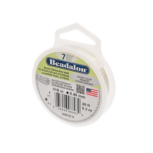 Beadalon .018/7 Wire 30ft Silver Color image