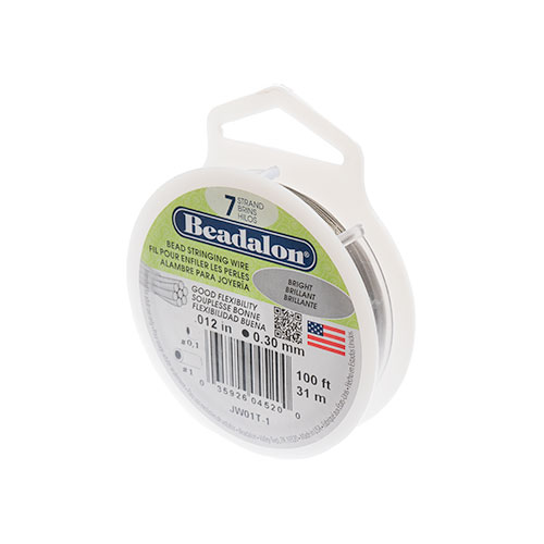 BEADALON .012/7 STRINGING WIRE 100' BRIGHT image