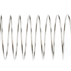 "BEADALON MEMORY WIRE RING .5oz 0.75""-0.84"" PLATED SILVER image"