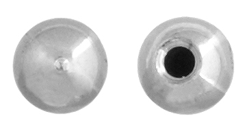 BEADALON MEMORY WIRE END CAPS 3mm ROUND PLATED SILVER image