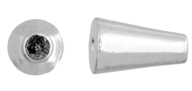 BEADALON MEMORY WIRE END CAPS 6.5mm CONE PLATED SILVER image