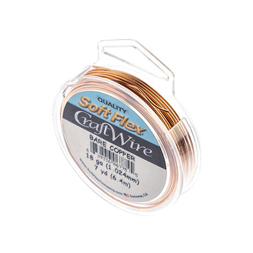 Soft Flex Craft Wire 18ga 7yds Copper image