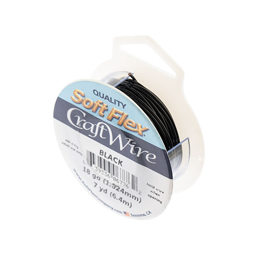 Soft Flex Craft Wire 18ga 7yds Black image