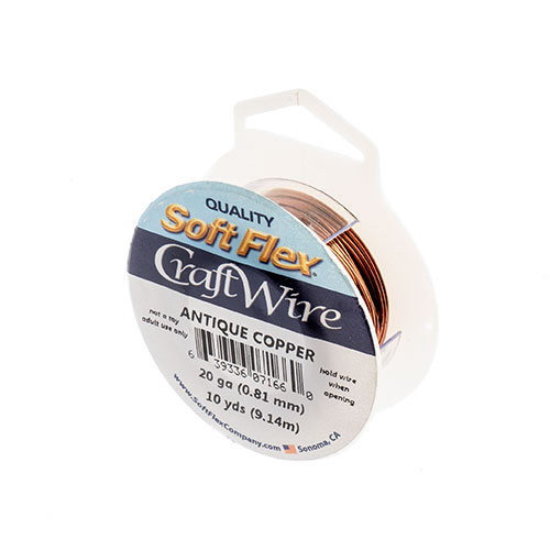 Soft Flex Craft Wire 20ga 10yd Non-Tarnish Antique Copper image