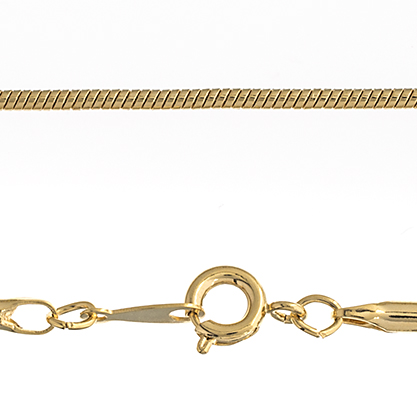 "CHAIN 24"" SNAKE ROUND .2mm SHINY GOLD image"