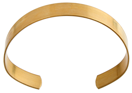 Brass Cuff Bracelets Flat Band 0.44in Wide Retail  Ready image