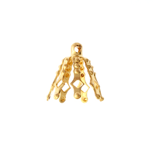 PACKAGED BELL CAP GOLD 7PRONG GOLD 5 PCS. W/HEADER LARGE image
