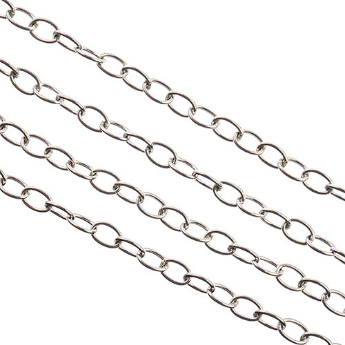 Stainless Steel Rolo Chain 1m w/ 3.7x2.4mm Links image