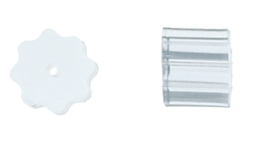 Fish Hook Stopper Clear 3mm - 6 pairs image