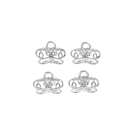 TropPunch FindingKit Silver4pc 20x12mm Pendant Bail Butterfly image