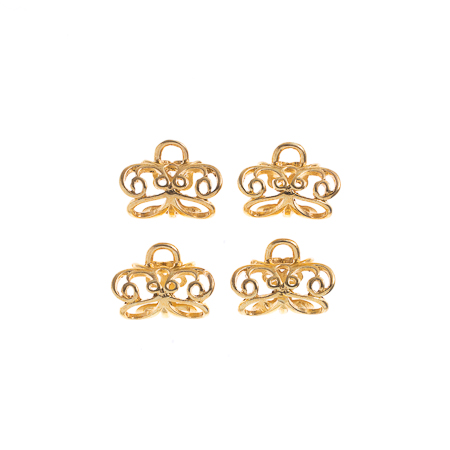 TropPunch Finding Kit Gold 4pc 20x12mm Pendant Bail Butterfly image