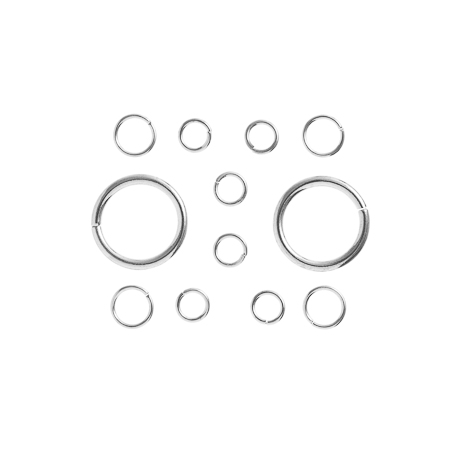TropPunch FindingKit Silver 20x12x6mm Jump Rings 12pcs image