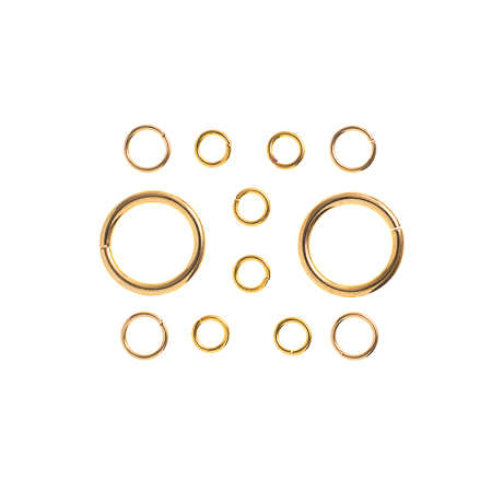 TropPunch FindingKit Gold 20x12x6mm Jump Rings 12 pcs image