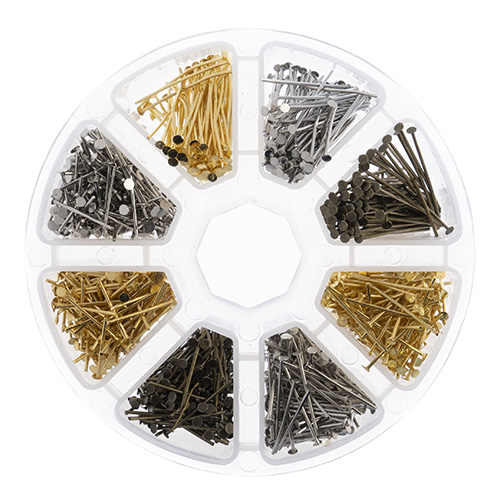 Findings - Assortment Round 8 Slots ead Pins 1030pcs image