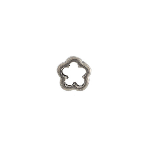 COUPLING BAR 2 HOLE FLORAL ANT. SILVER Lead/Nickel safe image
