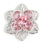 Swarovski Filigree 162007 Flower ss29 Light Rose Stones/Silver 48pcs image