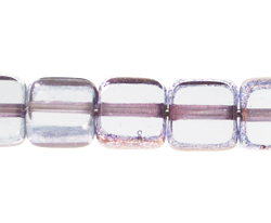 F/P 6x6mm SQUARE CRYSTAL LAMP/WINDOW BEADS image
