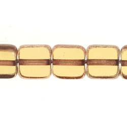 F/P 6x6mm SQUARE TOPAZ LAMP/WINDOW BEADS image