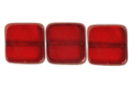 F/P 10x10mm SQUARE SIAM RUBY LAMP/WINDOW BEADS image