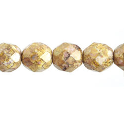 F/P 8mm Round Opaque Brown Marble image