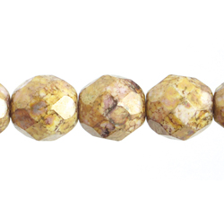 F/P 10mm Round Opaque Brown Marble image