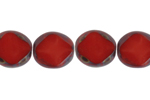 F/P 9/8mm OP.DK.RED OVAL DIAM. STRUNG        FACE BEAD image