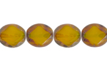 F/P 9/8mm TR.YELLOW OVAL DIAM. STRUNG        FACE BEAD image