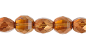 F/P 8mm ROUND TWO WAY CUT STRUNG TOPAZ/GOLD LUSTER image