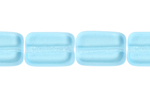 F/P 12/8mm AQUA OBLONG SHAPE STRUNG BEAD image