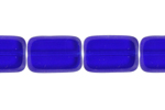 F/P 12/8mm COBALT BLUE OBLONG STRUNG     SHAPE BEAD image
