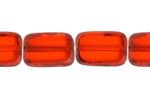 F/P 12/8mm TR.ORANGE OBLONG STRUNG     SHAPE BEAD image