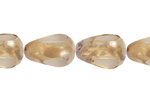 F/P 12x8mm CRYSTAL/MARBLE COATED PEAR SHAPE BEAD image