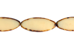 F/P 20x8mm OVAL STRUNG NATURAL BEIGE/BROWN MARBLE image