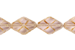 F/P 12x8mm FANCY DIAMOND SHAPE STRG.TR.LT.AMETH/BROWN MARBLE image