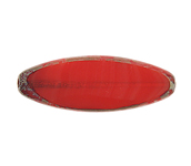F/P 30x11mm Cut Flat Oval Red Marble Edge image