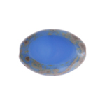 F/P 20x14mm Cut Flat Oval Light Blue Marble Edge image