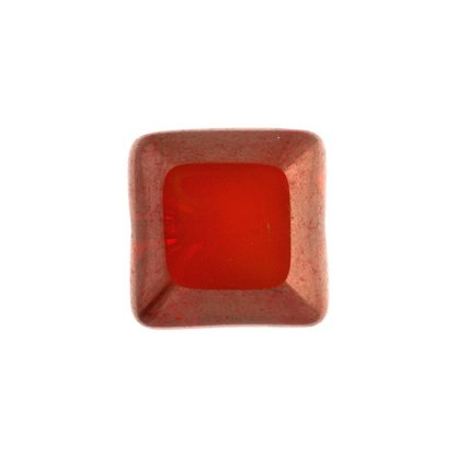 F/P 15x15mm Cut Square Ruby Bronze Luster Marble Edge image